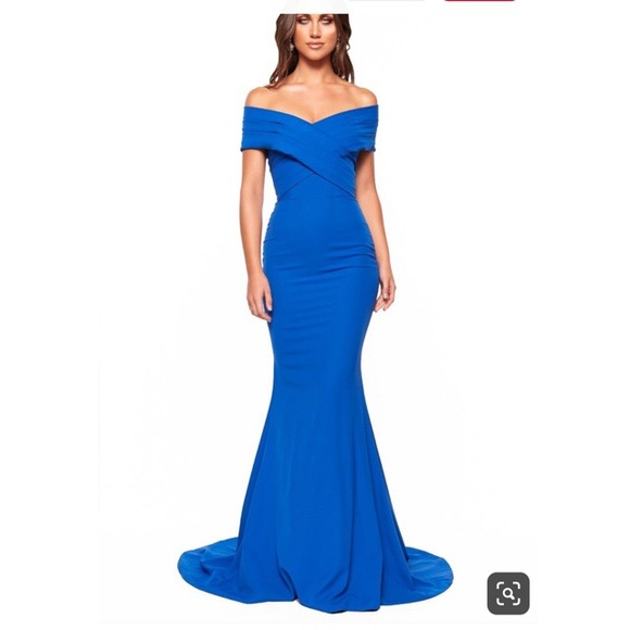 A&N Luxe Label Dresses & Skirts - A&N LUXE JOCELYN CREPE GOWN - ROYAL BLUE